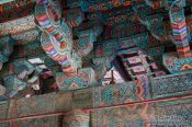 Travel photography:Facade detail of the Bulguksa Temple, South Korea