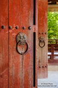 Travel photography:Bulguksa Temple doors, South Korea