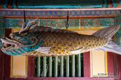Travel photography:Bulguksa Temple facade detail, South Korea
