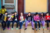 Travel photography:School kids visiting Bulguksa Temple, South Korea