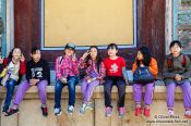 Travel photography:School kids on a visit to Bulguksa Temple, South Korea