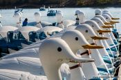 Travel photography:Gyeongju lake boats, South Korea