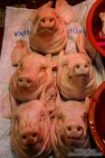Travel photography:Pig heads at Gyeongju market, South Korea