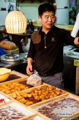 Travel photography:Food vendor at Gyeongju market, South Korea