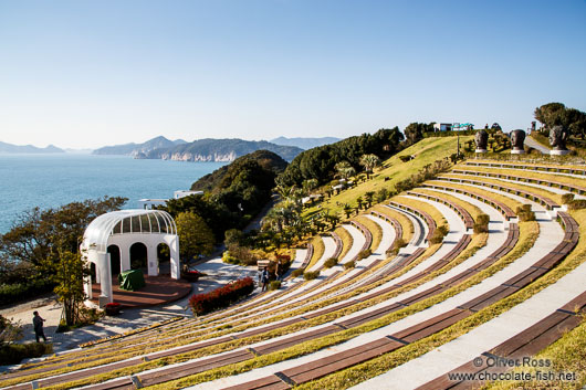 The open air amphitheatre on Camellia Island in the Jangsado Sea Park