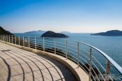 Travel photography:View from Camellia Island onto Jangsado Sea Park, South Korea