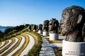 Travel photography:The open air amphitheatre on Camellia Island in the Jangsado Sea Park, South Korea