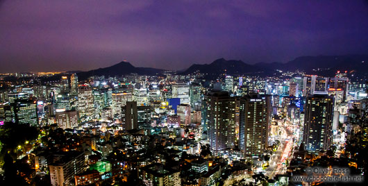Seoul skyline by night