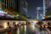 Travel photography:Seoul Cheonggyechon stream, South Korea