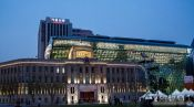 Travel photography:Seoul City Hall with library, South Korea
