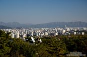 Travel photography:Seoul panorama from Samcheonggak, South Korea
