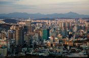 Travel photography:Seoul panorama from Namsan mountain, South Korea