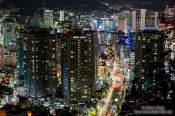 Travel photography:Seoul street by night , South Korea