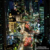 Travel photography:Seoul street by night, South Korea