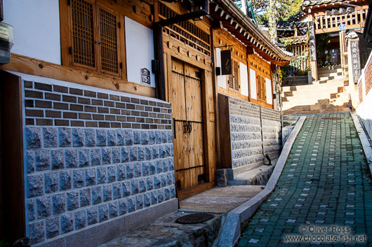 Street in the Bukchon Hanok village in Seoul