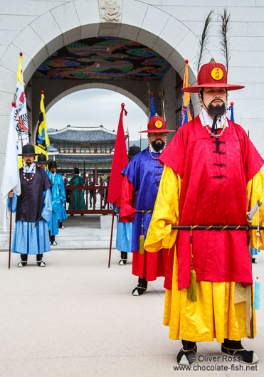 Seoul Gyeongbokgung palace guards