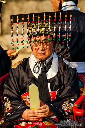Ceremony performed at the Jongmyo Royal Shrine in Seoul