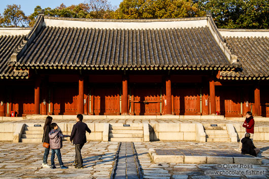 The Jongmyo Royal Shrine in Seoul