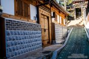 Travel photography:Street in the Bukchon Hanok village in Seoul, South Korea