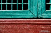 Travel photography:Window detail in Seoul`s Changdeokgung palace, South Korea