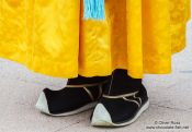 Travel photography:Footwear of the Gyeongbokgung palace guards, South Korea