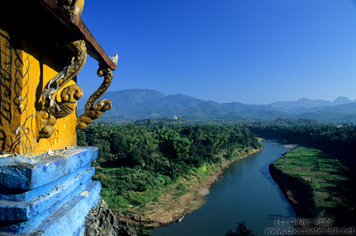 Mekong tributary viewed from Wat Thammothayalan in Luang Prabang