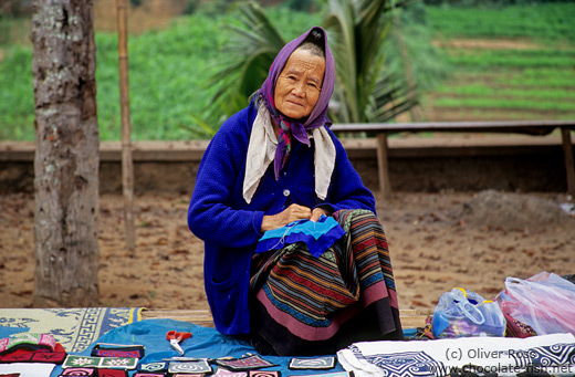 Woman at Luang Prabang market