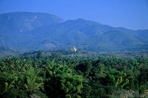 View of the Golden Temple from Wat Thammothayalan in Luang Prabang