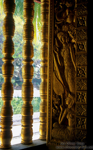 View from Inside Haw Pha Bang temple in Luang Prabang