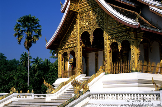 Haw Pha Bang temple inside the Royal Palace compound in Luang Prabang