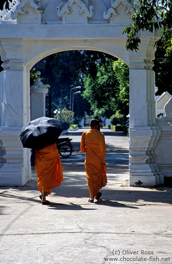 Buddhist monks in Vientiane