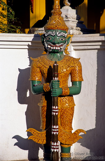Temple guardian in Vientiane