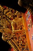 Travel photography:Facade detail at Wat Xieng Thong in Luang Prabang, Laos