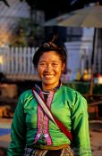 Travel photography:Woman at Luang Prabang market, Laos