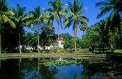 Travel photography:Pond in the Palace Grounds in Luang Prabang, Laos