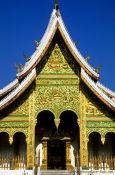 Travel photography:Haw Pha Bang temple facade in Luang Prabang, Laos