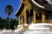 Travel photography:Haw Pha Bang temple inside the Royal Palace compound in Luang Prabang, Laos