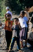 Travel photography:Kids on the Mekong river bank near Huay Xai, Laos