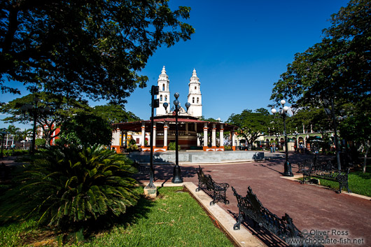 The main square in Campeche