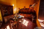 Travel photography:Kitchen in a colonial house in Campeche, Mexico