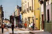 Travel photography:Colonial houses in Campeche, Mexico