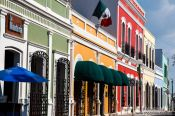 Travel photography:Colonial houses in Villahermosa, Mexico