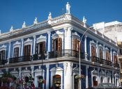 Travel photography:Colonial house in Villahermosa, Mexico