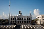 Travel photography:Main square in Villahermosa, Mexico
