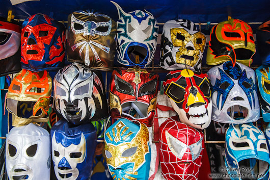 Lucha Libre masks for sale in Mexico City