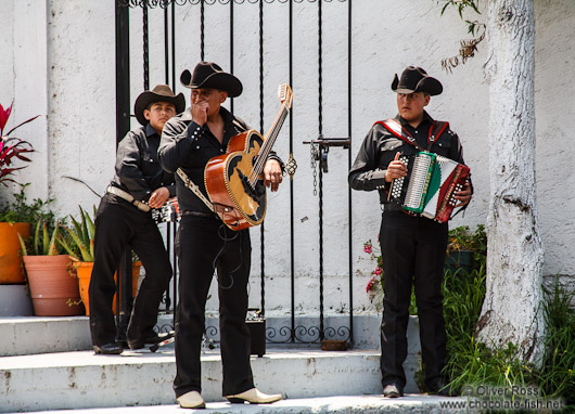 Mariachi at the Xochimilco Lake near Mexico City