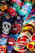 Travel photography:Chichen Itza skulls for sale, Mexico