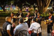 Travel photography:Mariachis perform at a restaurant in Oaxaca, Mexico