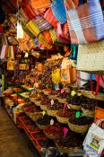 Travel photography:Varieties of chilli being sold at the Oaxaca market, Mexico