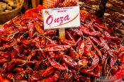 Travel photography:Chilli being sold at Oaxaca market, Mexico